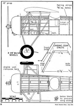 d8 p2 model airplane plan