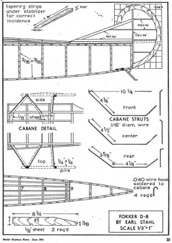 d8 p3 model airplane plan