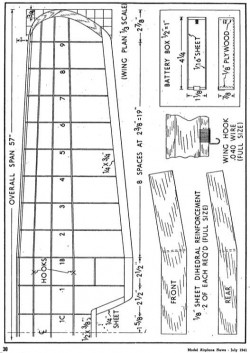 d8 p4 model airplane plan