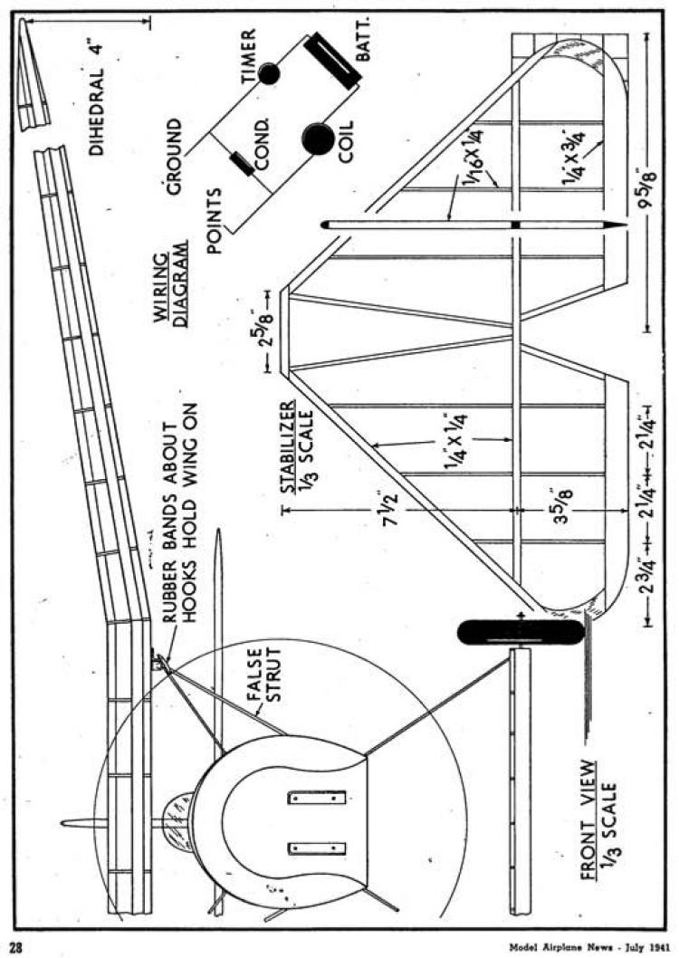 d8 p6 model airplane plan