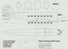 dc001 model airplane plan