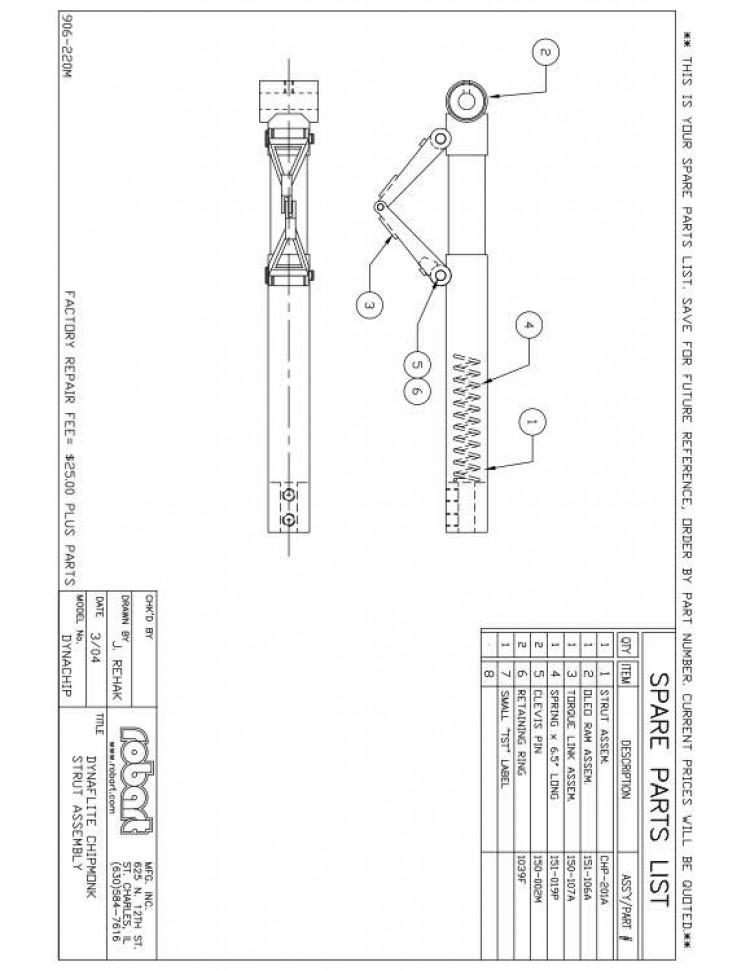 DCHPSP model airplane plan