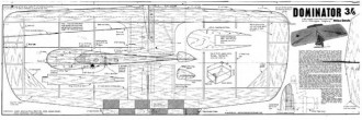 Dominator model airplane plan