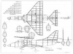 Douglas A-4 Skyhawk model airplane plan