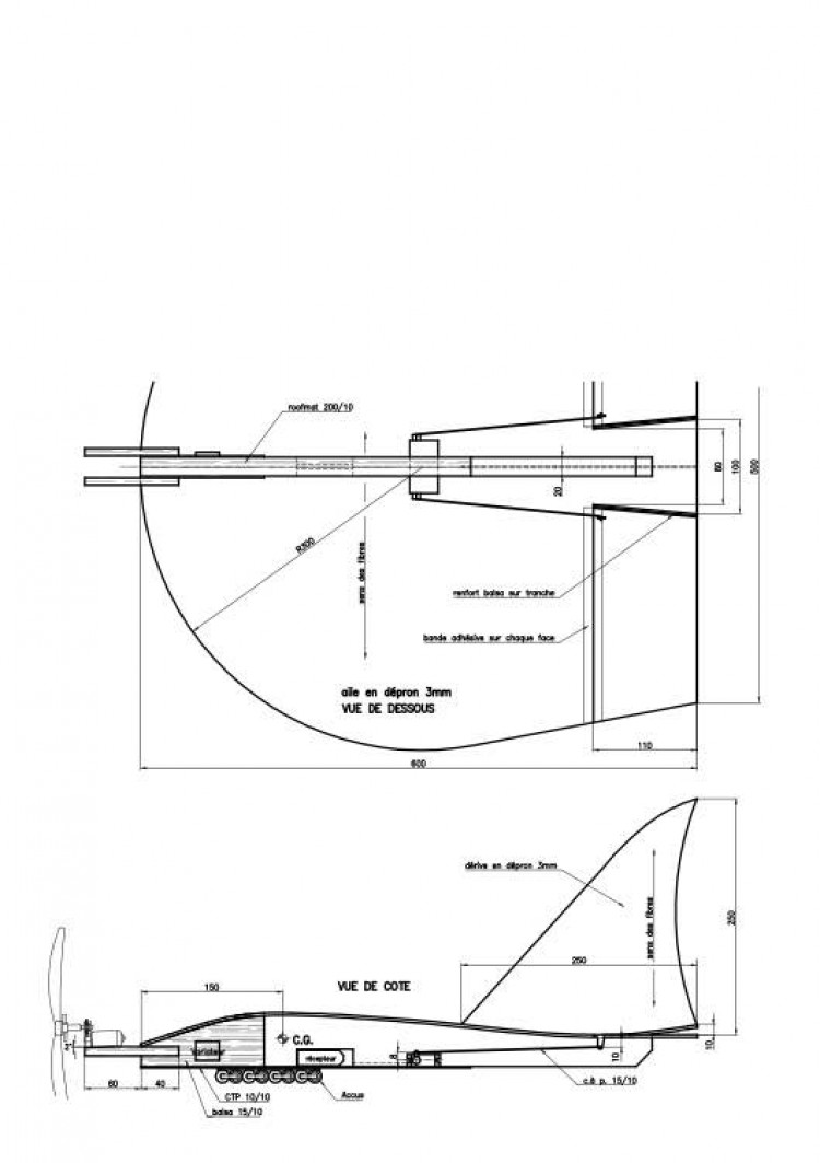 drenalyn model airplane plan