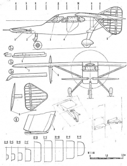 duck2 model airplane plan