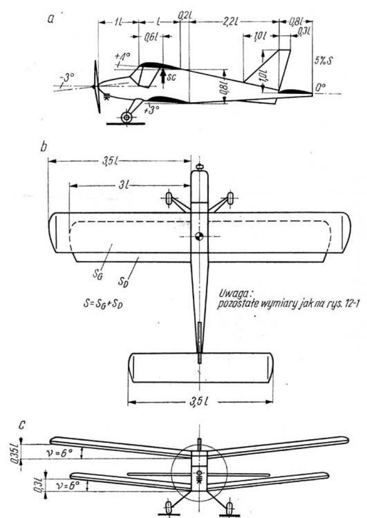 dwuplat model airplane plan