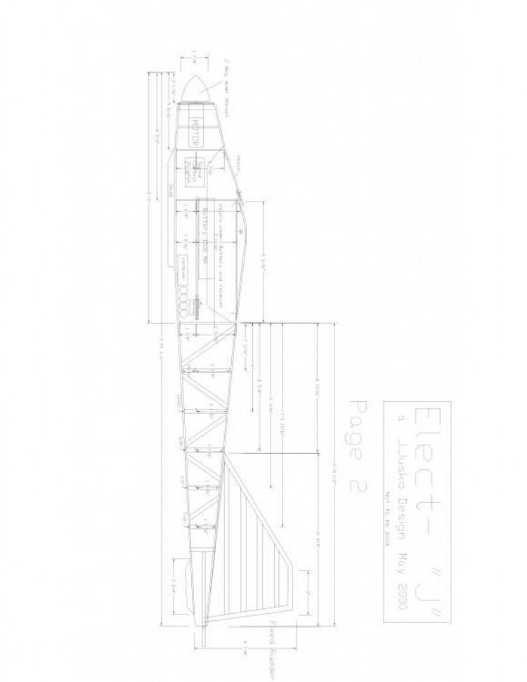 elect-j2 Model 1 model airplane plan