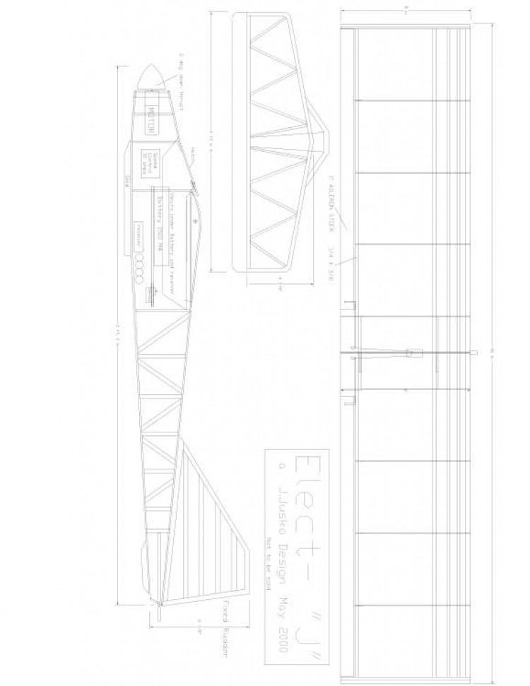elect-j Model 1 model airplane plan