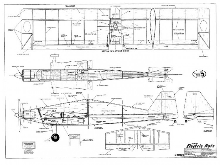 Electric Hots model airplane plan