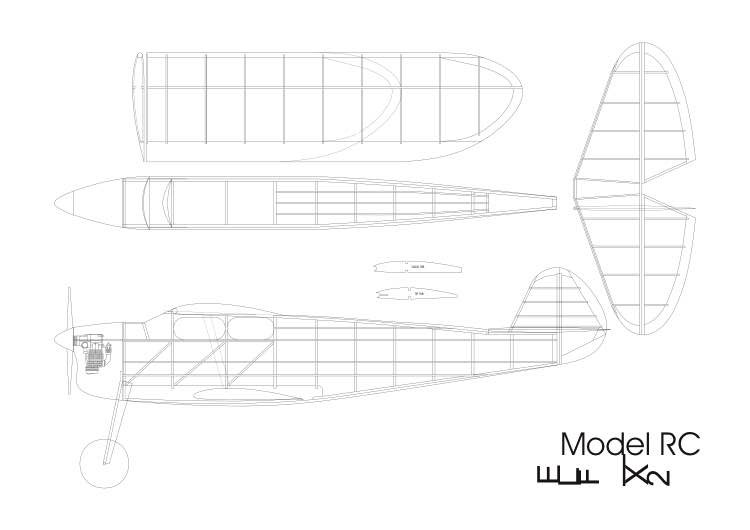 elf x2 model airplane plan