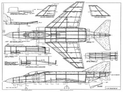 f-4e phantom ii model airplane plan