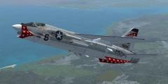 F-8E Crusader model airplane plan