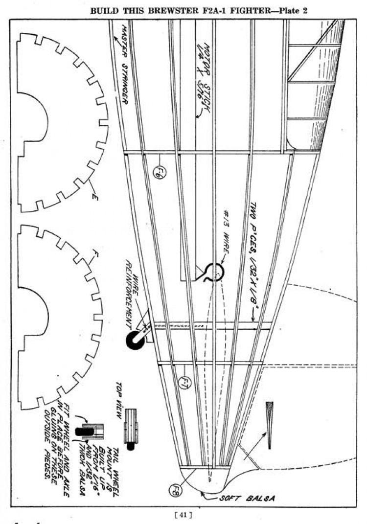 f2a p2 model airplane plan