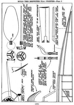f2a p3 model airplane plan
