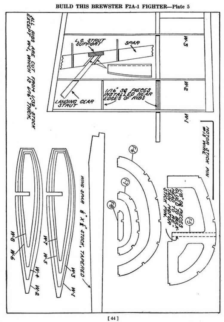 f2a p5 model airplane plan