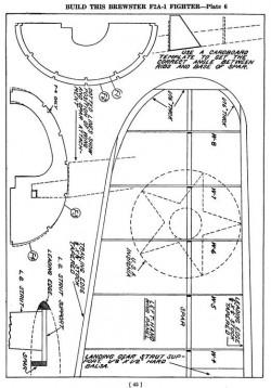 f2a p6 model airplane plan