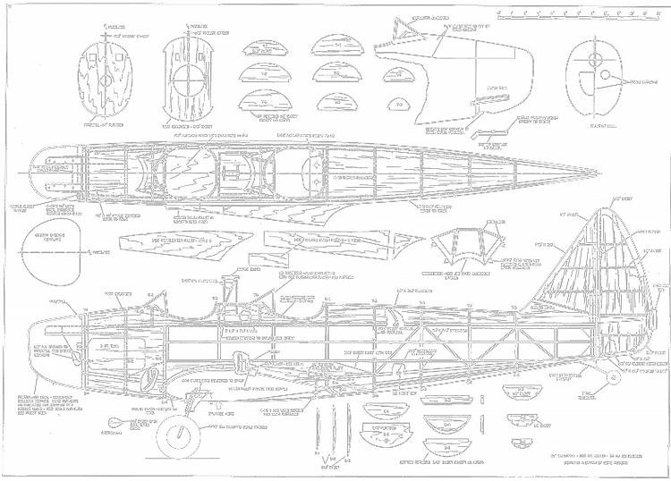 Fairchild PT19 p2 model airplane plan