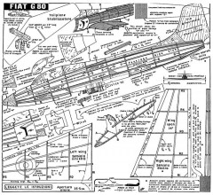 fiat g80 model airplane plan