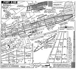 fiat g80 model airplane plan