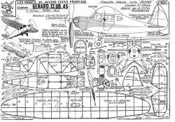 fillon GERARD CLUB 45 model airplane plan