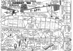fillon HANRIOT 160 model airplane plan