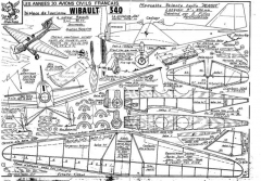 fillon WIBAULT 340 model airplane plan