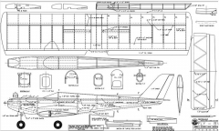 Fly-By model airplane plan