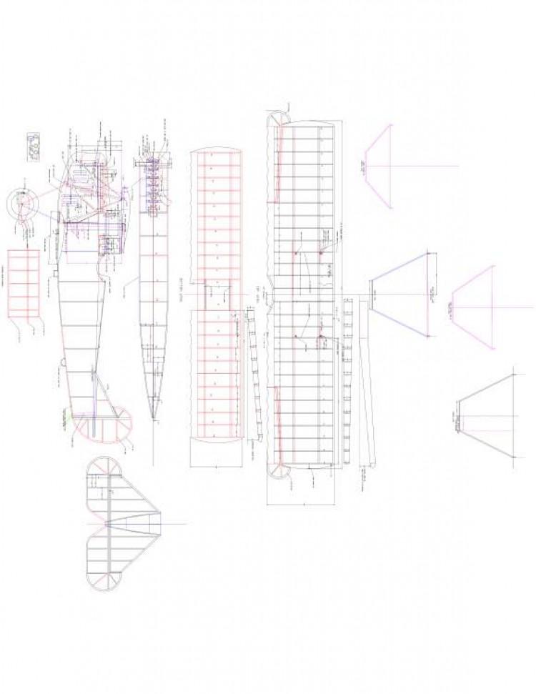 fokker Model 1 model airplane plan