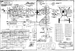 Fokker DVII model airplane plan
