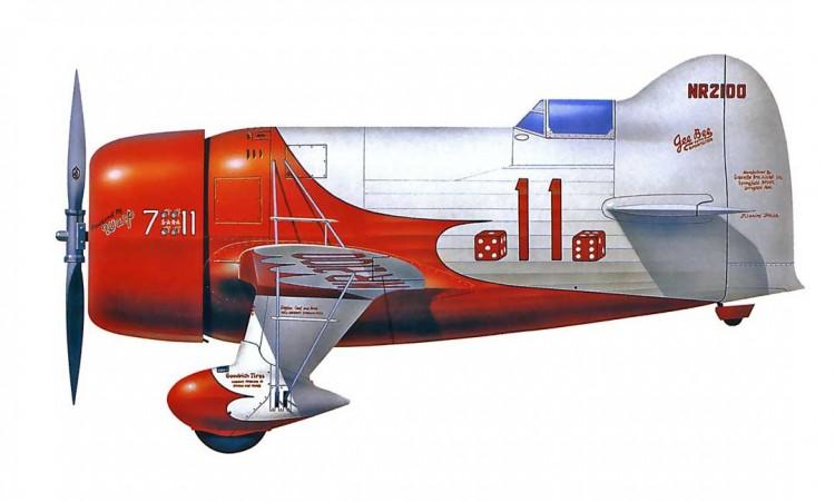 Gee Bee R-1 Super Sportster model airplane plan