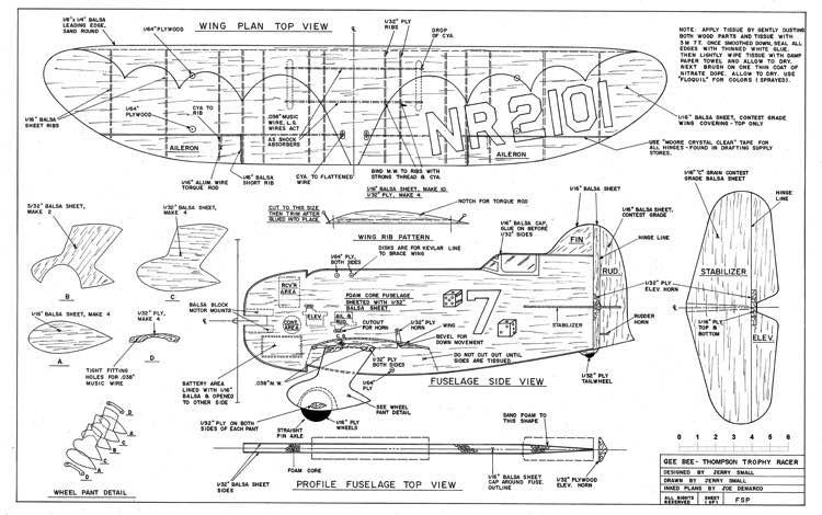 geebee profile model airplane plan