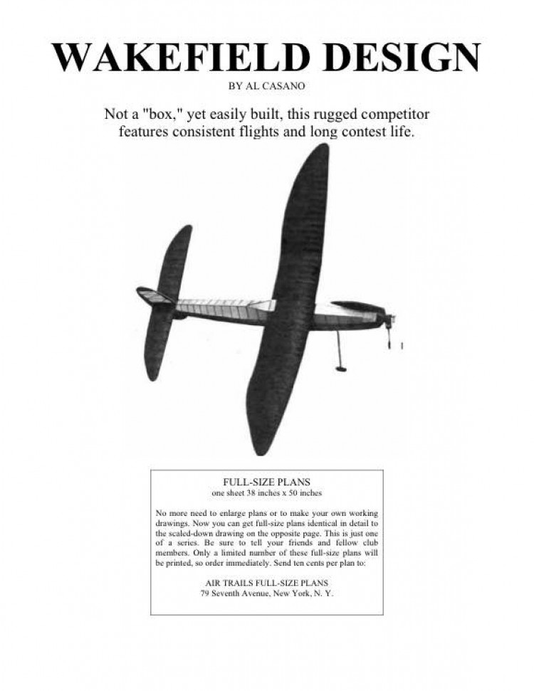 glamourwake model airplane plan