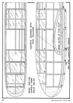 glider01 model airplane plan