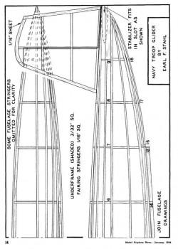 glider02 model airplane plan