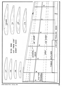 glider03 model airplane plan