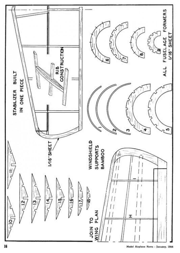 glider04 model airplane plan