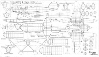 Gloster IV model airplane plan