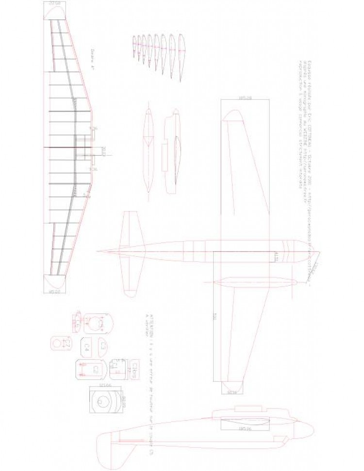 goeland Model 1 model airplane plan