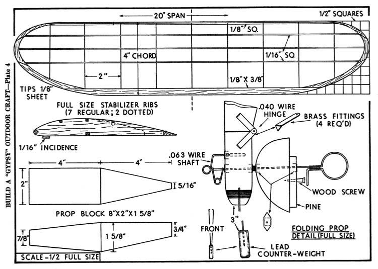 gypsy p4 model airplane plan