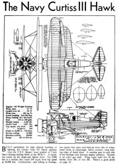 hawk 3v model airplane plan