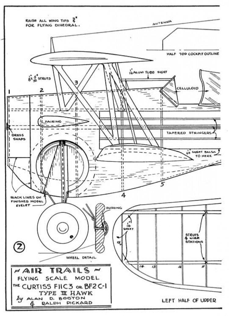 hawk p1 model airplane plan