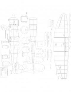 Hawker Sea Fury Model 1 model airplane plan