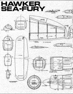 Hawker Seafury 1 model airplane plan