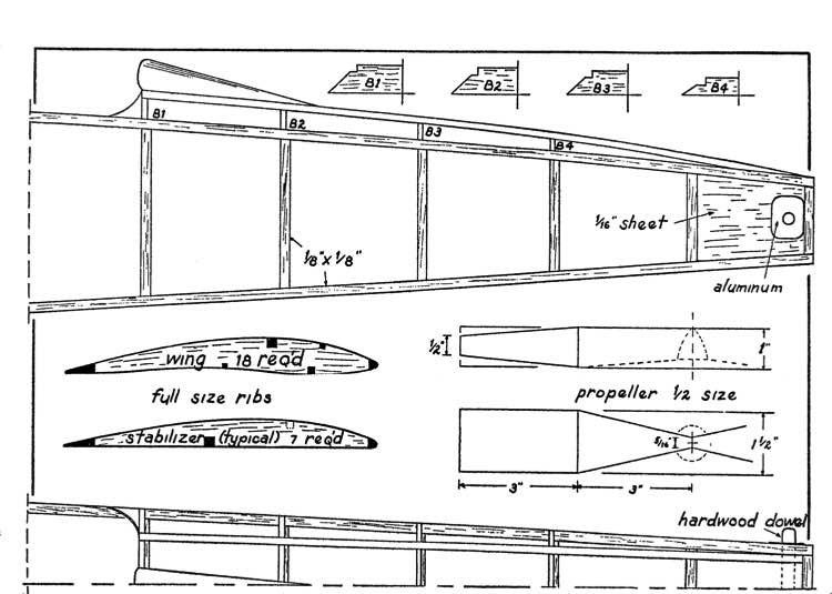 huri2 model airplane plan