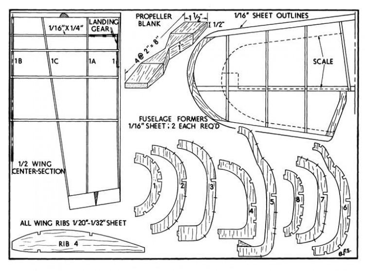 hurri 4 model airplane plan