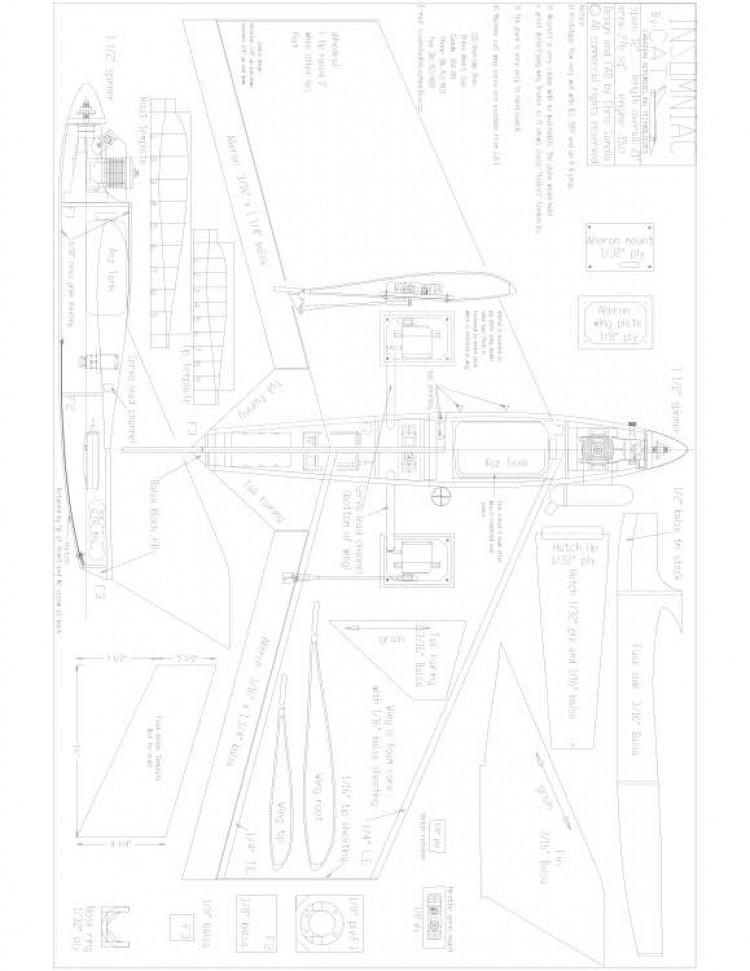 insomniac Model 1 model airplane plan