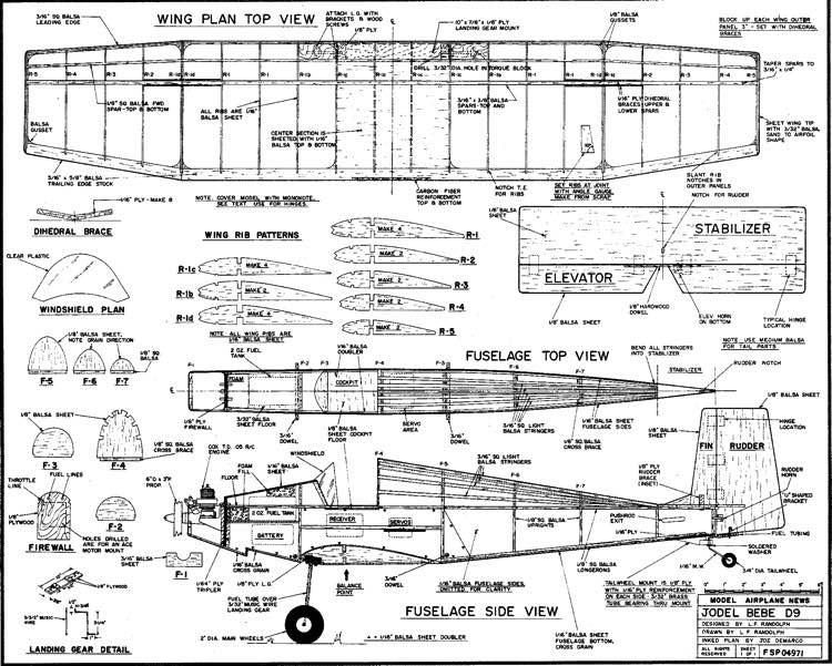 jodel model airplane plan