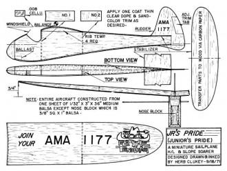 Jr's Pride model airplane plan