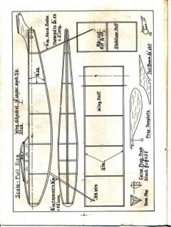 Just Pusher model airplane plan